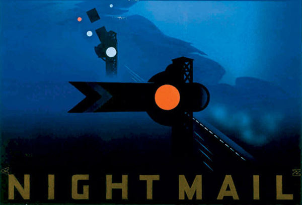 Detail of Pat Keely's poster for Basil Wright's Night Mail (1936).
