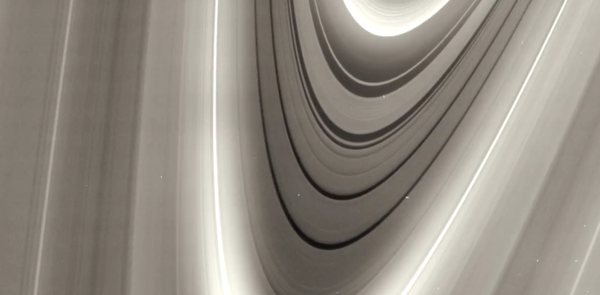 "NASA footage of Saturn's rings, used in Fabio di Donato's ""Around Saturn"" (2013)."