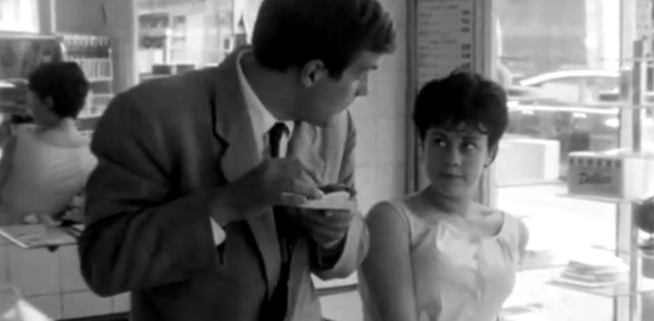 Barbet Schroeder and Claudine Soubrier in Eric Rohmer's The Bakery Girl of Monceau (1963).