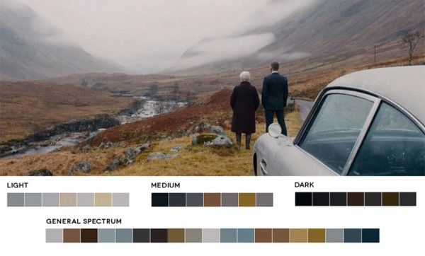 Color palette for Skyfall, from Roxy Radulescu's blog, Movies in Color.